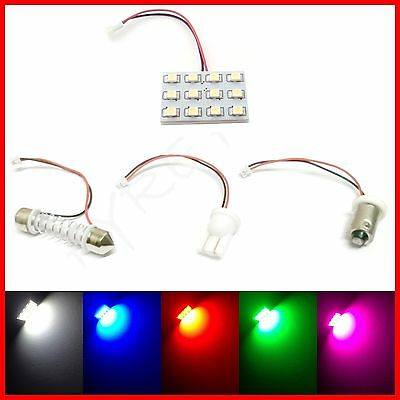 12 LED INTERIOR DOME MAP LIGHT SMD PANELS - CHOOSE COLOR AND QUANTITY
