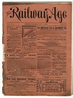 "[36951R] July 5, 1890 Issue Of ""the Railway Age"" Newspaper"