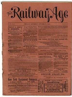 "[36958R] October 25, 1890 Issue Of ""the Railway Age"" Newspaper"