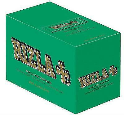 Orignal Rizla Green Standard/ Regular Size Rolling Papers FULL BOX 100 Booklets
