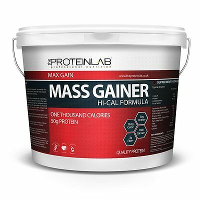 4Kg Hi - Cal Weight Gainer Whey Protein Powder Weight Gain. Mass Gainer + Bcaa's