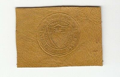[37049] Old Tobacco Leather University Of Texas Seal