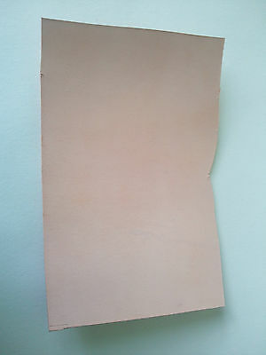 "NATURAL VEG TANNED BUTT LEATHER PIECE 12"" x 6"" for SHEATH, TOOLING, WET MOULDING"
