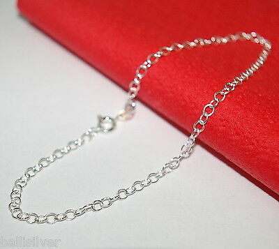 50 pcs Sterling Silver 925 3x4mm OVAL CABLE Chain STARTER ANKLETS Wholesale Lot