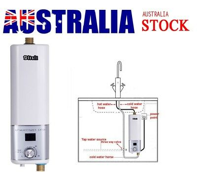 Mini White Instant Electric Hot Water Heater Kitchen Bathroom Hot Water System