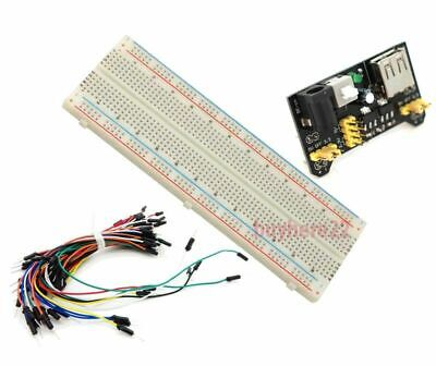 830 tie point Solderless MB-102 Breadboard Power Supply Jumper Wires Starter Kit