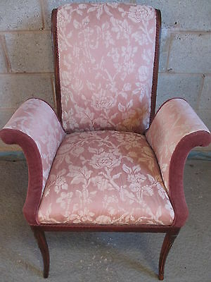 Unusual 19th Century French Walnut upholstered armchair (ref 1226)