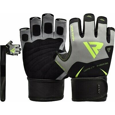 RDX Weight Lifting Gloves Gym Bodybuilding Fitness Crossfit Training Exercise WB