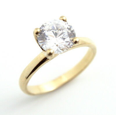 Diamond-Unique 3ct Solitaire Engagement Ring 9ct Gold