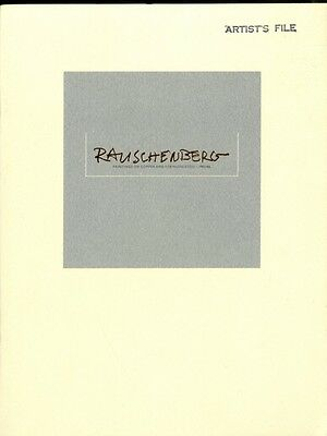 ROBERT RAUSCHENBERG Paintings on Copper and Stainless Steel 1985 Catalogue $400+