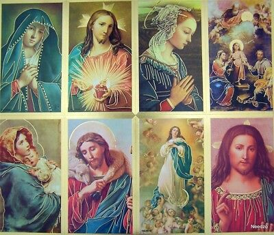 Pack of 1000 Assorted Saints Jesus Christ Marian Gold Foil Perforated Holy Cards
