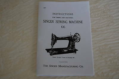 Singer Sewing Machines Class 66 Timing & Adjusting Manual for Service, Adjusters