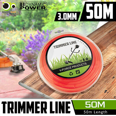 Trimmer Line 3.0mm 50m Whipper Snipper Cord Wire Brush Cutter Brushcutter Nylon