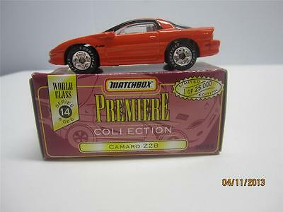 Matchbox Premiere Collection Camaro Z28 Diecast Collectable Car
