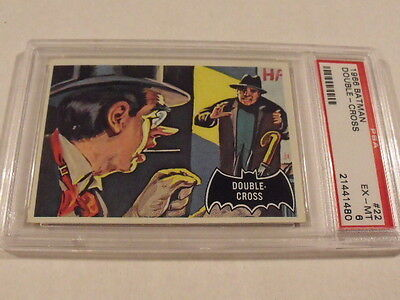 1966 Topps BATMAN Black Bat #22 Double-Cross - PSA 6 EX-MT - High Grade