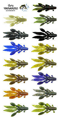 "GARY YAMAMOTO FLAPPIN HOG 3.75"" 7 PACK select colors"