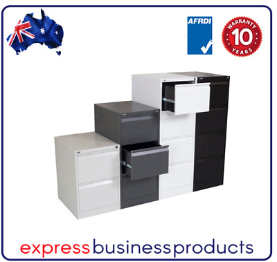 3 Drawer Steel Filing Cabinet - 4 Colours Available