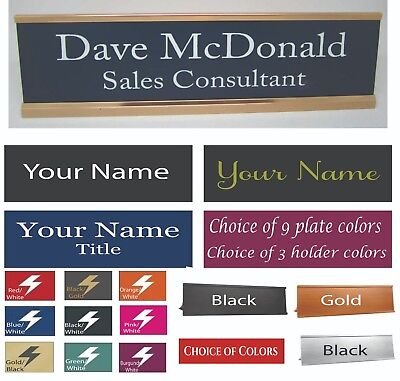 Personalized Customized Laser Engraved Desk Name Plate Bar Nameplate