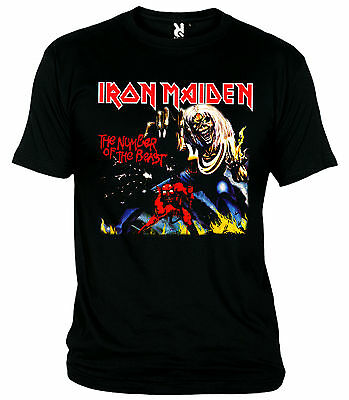 """Camiseta """"iron Maiden-The Number Of The Beast-Heavy Metal"""" T-Shirt"""