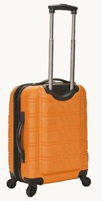 """Rockland Melbourne 20"""" Expandable Abs Carry On F145-ORANGE luggage NEW"""