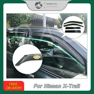 Premium Weathershield Weather Shields Window Visors for Nissan X-Trail 07-13 T