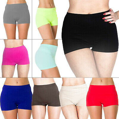 New Womens High Waist Boxer Shorts Pants Ladies Underwear Plus Size 16 18 20 22
