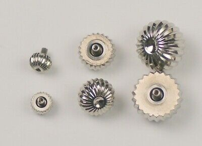 New Watch crown pumpkin or pendent type choice sizes crowns steel silver repairs