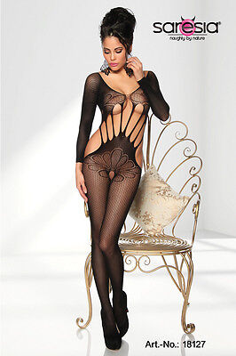 Sexy Damen Glamour Dessous Bodystocking Gr. S M L Overall Catsuit  *NEU* #0067