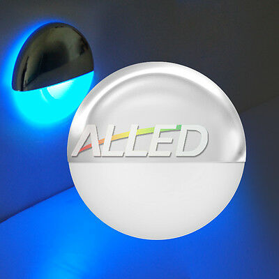 12V Blue Waterproof LED Half Round Courtesy Light Outdoor/Garden/Step/Deck Lamp