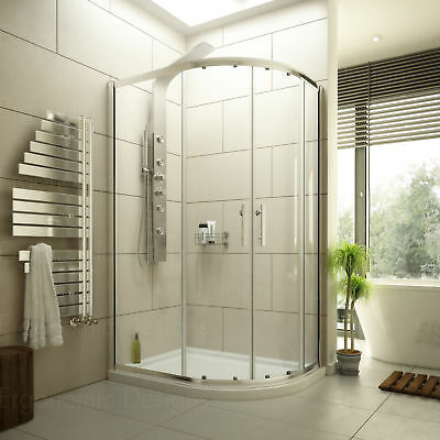 1200 x 800 Quadrant Shower Enclosure 6mm Glass Cubicle and Right Hand Tray