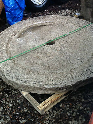 5' Antique granite Millstone Japanese garden landscape water basin fountain