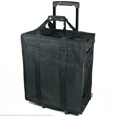New Large Jewelry Display Box Black Carrying Case w/ Wheels