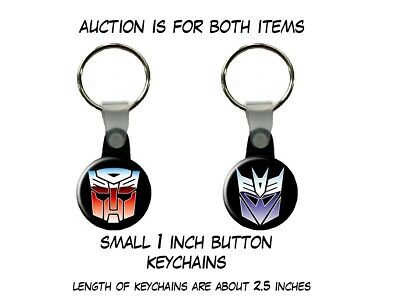 Transformers Autobot Decepticon Optimus Prime set of 2 Key Chains
