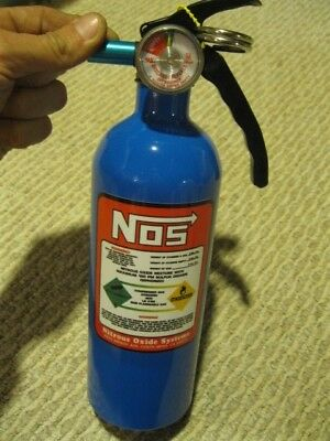 NEW Fire Extinguisher Look A Like NOS NITROUS BOTTLE DECAL NX ZEX Blue Rat Rod