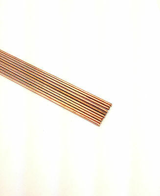 "Drawn Copper Rods .0350 Od X 12"" Long (Lot Of 10)"