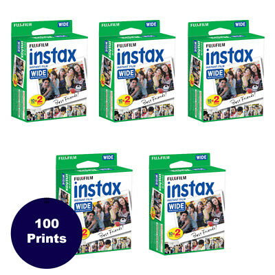 100 Prints Fujifilm Instax Wide Instant Film for 200 210 300 Camera 3/2019