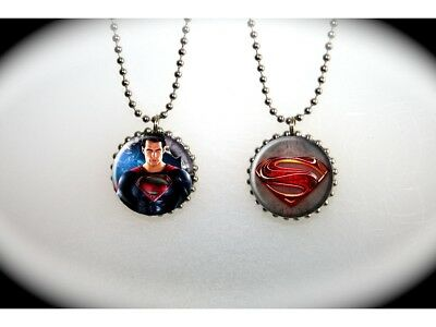Man of Steel Superman Henry Cavill 2013 Logo (A)  -  2 sided necklace