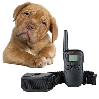 LCD 100LV Level Shock Vibration Remote Pet Dog Training Collar For 10-130lb New