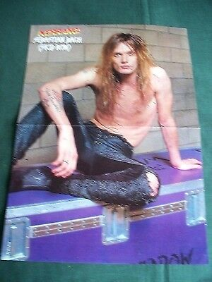 Sebastian Bach  -  Magazine Clipping - ( Centrespread  Picture )