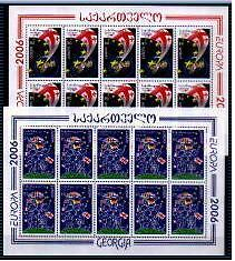 Georgia - 2006 - Europa, Integration, 2 sheetlets of 10v