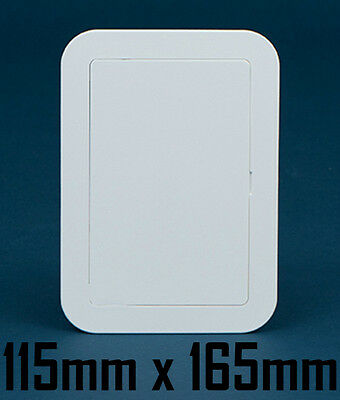 115mm x 165mm Timloc White Plastic Wall Access Panel Inspection Hatch