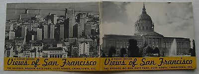 Vintage Travel Booklet  Views Of San Francisco 1940's/50's