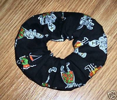 Halloween Skeletons Fabric Hair Scrunchie/6th One Free