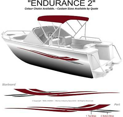 "Boat Graphics Decal Sticker Kit ""endurance 2 -1800"" Marine Cast Vinyl"