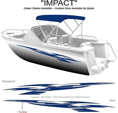 "Boat Graphics  Decal Sticker Kit ""impact -1800""  Marine Cast Vinyl"