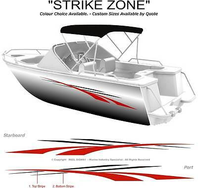 "Boat Graphics Decal Sticker Kit ""strike Zone -1800""  Marine Cast Vinyl"