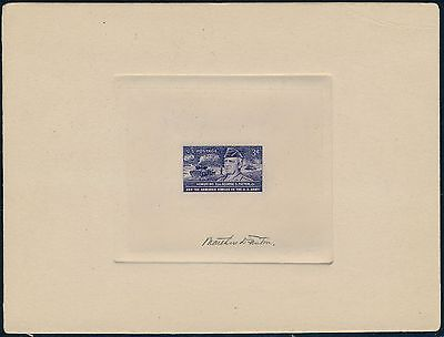 #1026P1 George Patton Signed Lrg Die Proof On India Die Sunk On Card Xf-S Wl3294