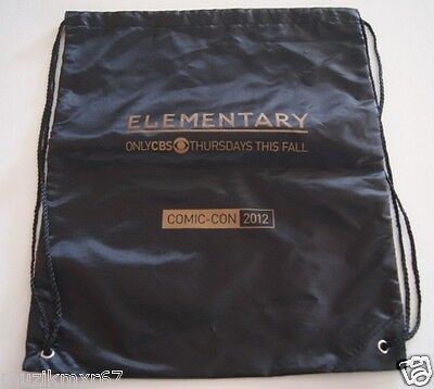 SDCC Comic Con 2012 EXCLUSIVE Elementary CBS Drawstring bag SHERLOCK HOLMES