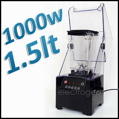 NEW 1.5L COMMERCIAL GRADE ICE BAR FRUIT BLENDER, frozen yogurt, stainless steel
