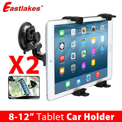 2X Car Windscreen Suction Mount Holder For iPad Mini Pro Samsung Tablet PC 8-12""